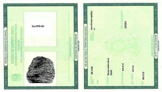 Carteira de Identidade ES