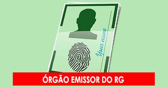 Órgão emissor do RG
